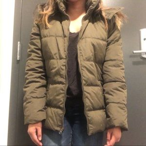 Old Navy Army Green Puffer Jacket